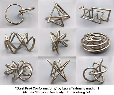 Steel Knot Conformations