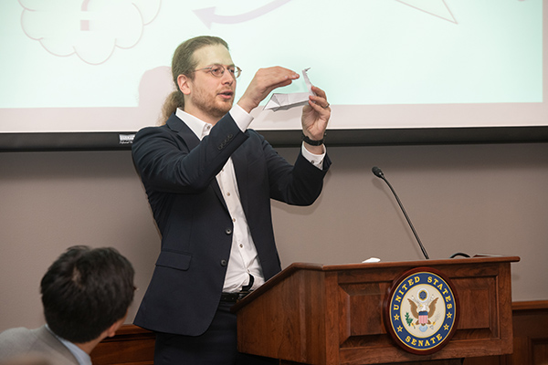 Computational Origami on Stage at Capitol Hill Briefing