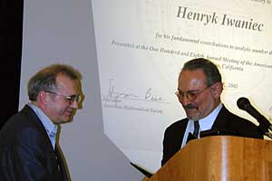 Henryk Iwaniec receives Cole Prize
