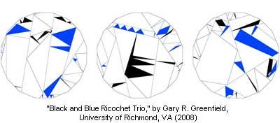 Black and Blue Ricochet Trio