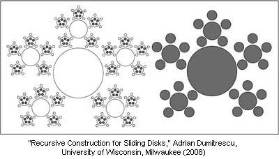 Recursive Construction for Sliding Disks