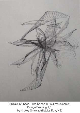 Spirals in Chaos - The Dance in Four Movements: Design Drawing 1