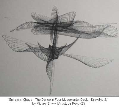 Spirals in Chaos - The Dance in Four Movements: Design Drawing 3