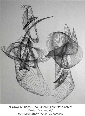 Spirals in Chaos - The Dance in Four Movements: Design Drawing 4