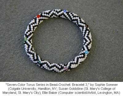 Seven-Color Torus Series in Bead-Crochet: Bracelet 3