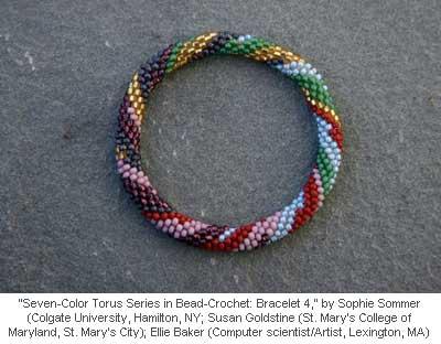 Seven-Color Torus Series in Bead-Crochet: Bracelet 4