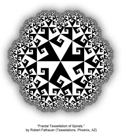 Fractal Tessellation of Spirals