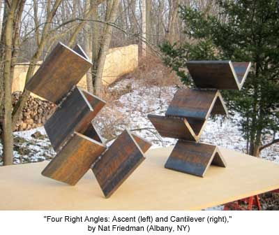 Four Right Angles: Ascent (left) and Cantilever (right)