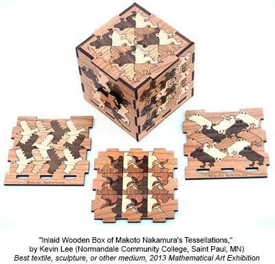 Inlaid Wooden Box of Makoto Nakamura's Tessellations