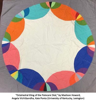 Octahedral tiling of the Poincare Disk by Madison Howard, Angela Vichitbandha, Kate Ponto