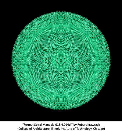 Fermat Spiral Mandala 013.4.014d by Robert Krawczyk