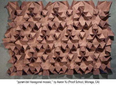 pyramidal Hexagonal mosaic