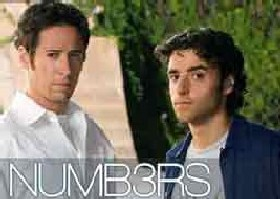 Stars of CBS-TV show Numb3rs