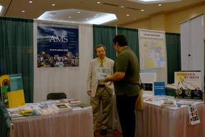 at the AMS exhibit booth