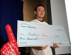 Andrew with check