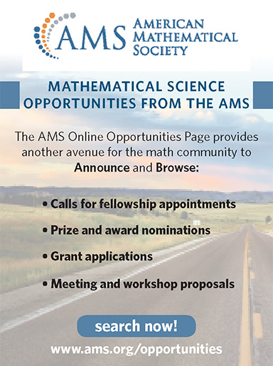 AMS :: Awards, Fellowships, and Other Opportunities
