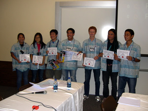 Contestants with certificates